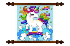 Tablou TANKA Kids Rainbow Hair Unicorn