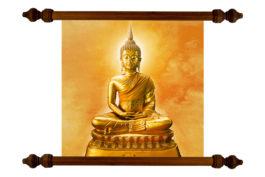 Tablou TANKA Golden Stone Buddha