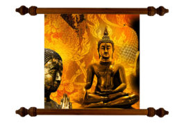 Tablou TANKA Fire Buddha