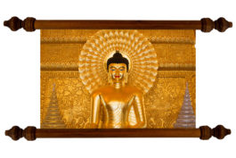 Tablou TANKA Shiny Golden Budhha