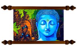 Tablou TANKA Blue Buddha