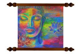 Tablou TANKA Rainbow Buddha