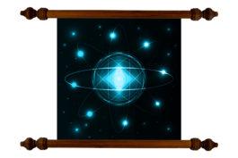 Tablou TANKA Blue Atom