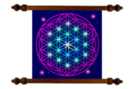 Tablou TANKA Flower of Life Peace