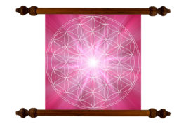 Tablou TANKA Flower of Life Fulfillment