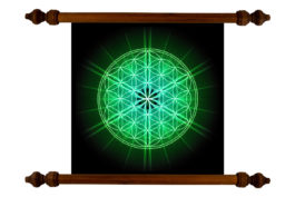 Tablou TANKA Flower of Life Green
